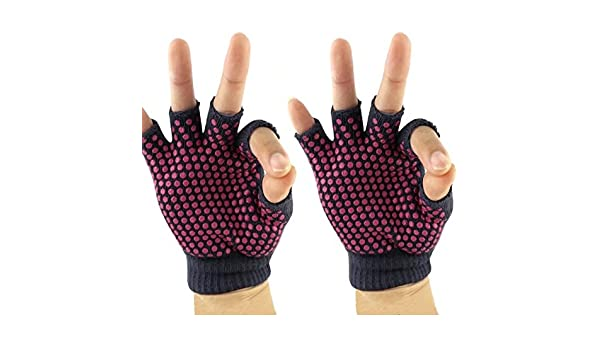 Amazon.com: Pack of 3 Non-Slip Yoga Gloves for Exersice and ...