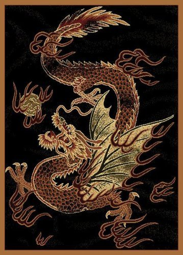 United Weavers Legends Area Rug 910-03230 Dragon Luck Dragon Asian 5' 3