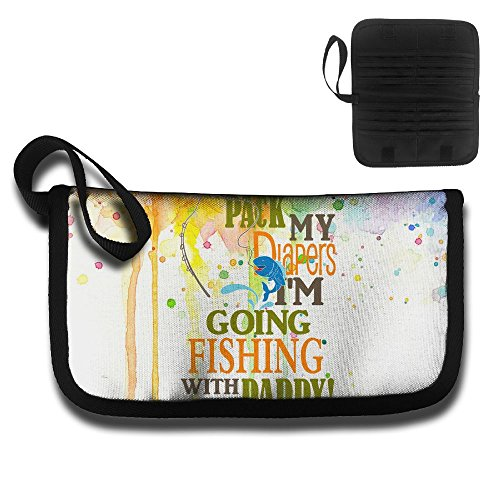 EstherMorrison Pack My Diapers Im Going Fishing With Daddy Hot Credit Card Case Passport Holder Bag Travel Wallet Black by EstherMorrison