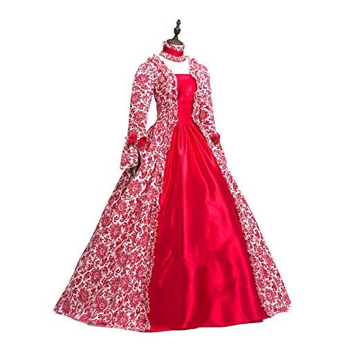 Victorian Rococo Costume Women's Dress Party Costume Masquerade (L:Height65-67 Chest38.5-40