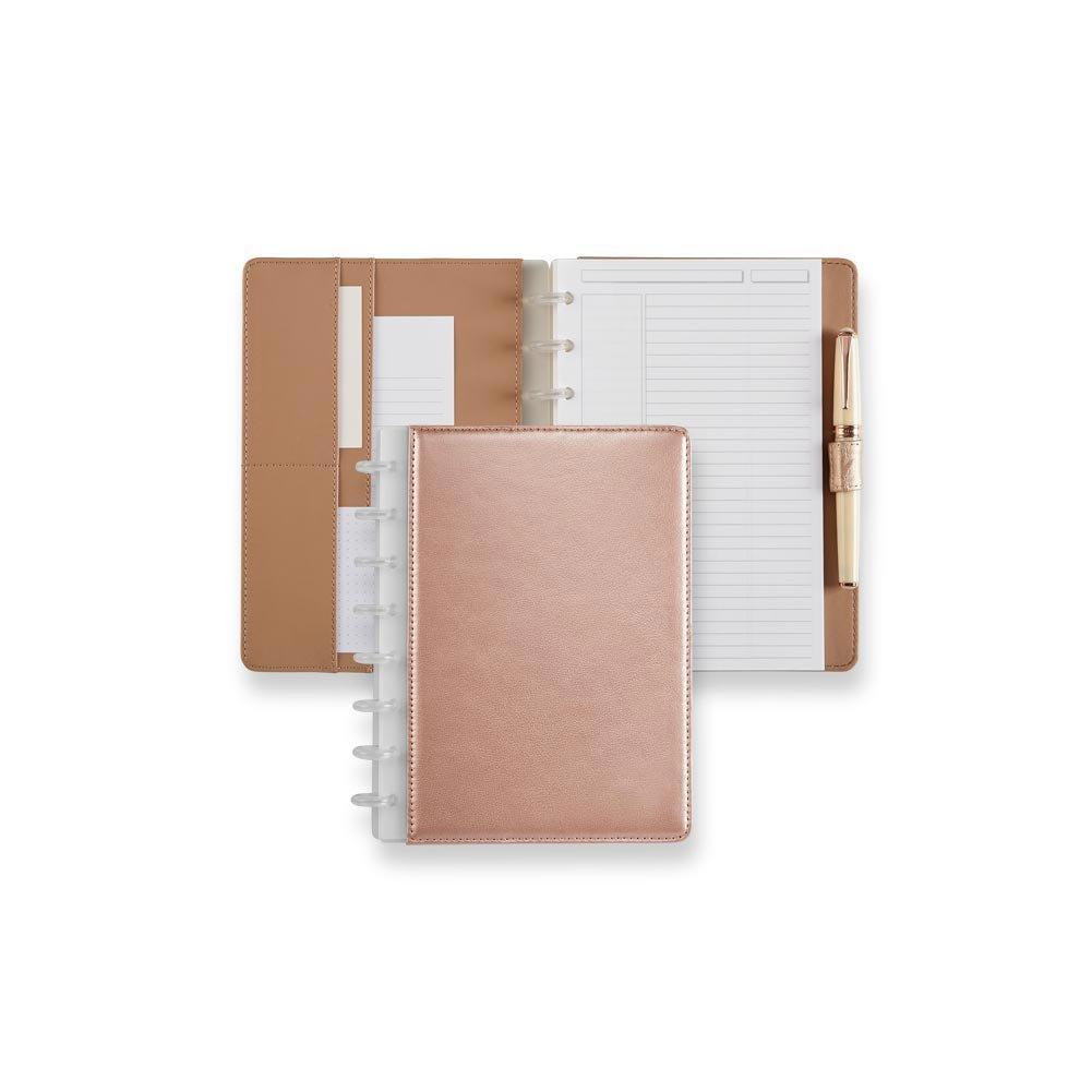 Levenger Circa Rose Gold Foldover Notebook