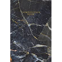 Composition Book: Marble + Gold Medium Lined Small Notebook | 110-Page Blank College Ruled Journal for Doodling Journaling Writing Notes (6 X 9)
