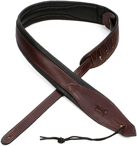 Levy's Leathers MSS80-DBR 2-inch Leather Strap,Dark Brown