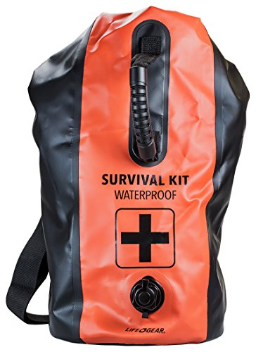 Life Gear 2 Person 72 Hour First Aid and Survival Kit in Large Dry Bag (Life Gear Survival Backpack Bug Out Bag)