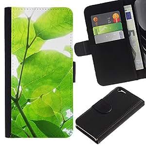 For Apple Apple iPhone 6(4.7 inches),S-type® Sun Tree Green Nature Spring - Dibujo PU billetera de cuero Funda Case Caso de la piel de la bolsa protectora