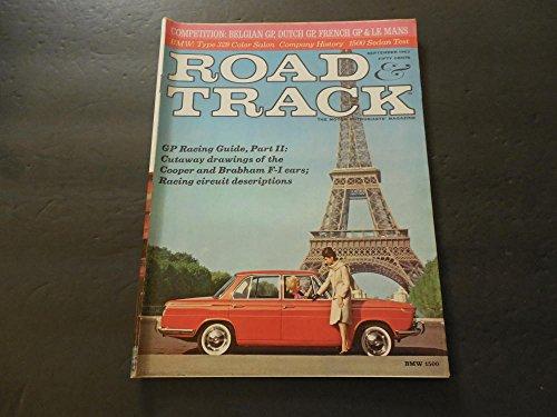 F1 Grand Prix Card - Road Track Sep 1963 Grand Prix Racing; BMW Type 328; F-1 Cars