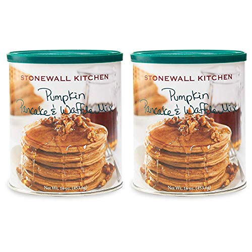2 pack - Stonewall Pumpkin Pancake & Waffle Mix, 16 oz each Canister ()
