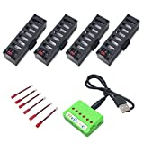 4pcs 3.7V 500mah battery + 1 pcs 1to6 charger for JY018 GW018 wifi EACHINE E52 contixo f8 rc drone spare parts