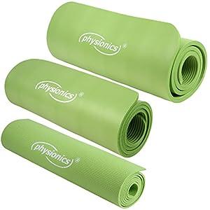 Gymnastikmatte Fitnessmatte Yogamatte Pilates grün 180 x 60 cm Übungsmatte...