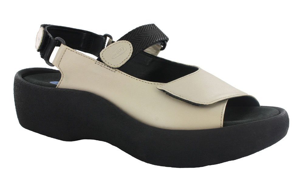 Wolky Womens 3204 Jewel Leather Sandals 40 EU|Linen