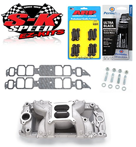 Edelbrock 7562 Performer RPM Air Gap Intake Manifold w/Bolts/Gaskets/RTV - BBC Rectangle Port