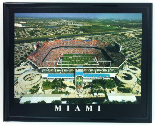 Miami Dolphins Framed Wall - Framed NFL Football Miami Dolphins Aerial Pro Player Stadium Wall Art Print F7517A