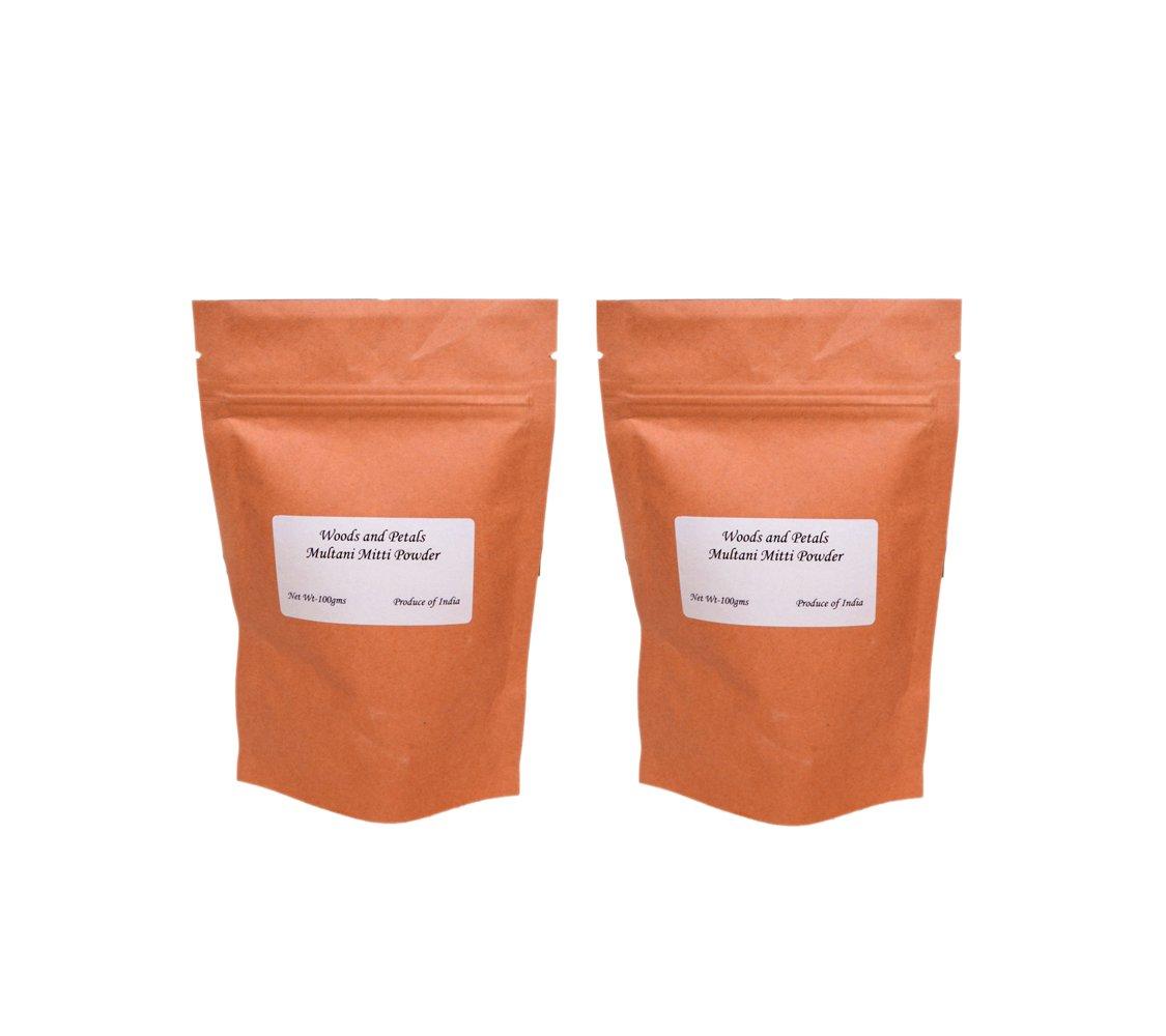 Multani Mitti Powder conjunto de 2 (arcilla Fullers Tierra) para el cuidado de la piel I anti envejecimiento I belleza y brillo: Amazon.es: Belleza