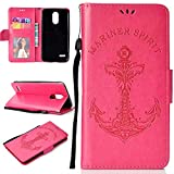 LG Stylus 3 / Stylo 3 / LS777 Case, UNEXTATI® LG Stylus 3 / Stylo 3 / LS777 Flip Folio PU Leather Case with Kickstand Feature and Magnetic Closure for LG Stylus 3 / Stylo 3 / LS777 (Rose Red #6)