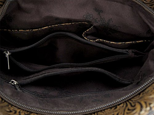 Zeckos - Bolso bandolera mujer marrón