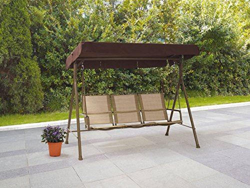 Replacement Tarp (Patio Swing Set Outdoor Furniture 3 Person Seat Front Porch Bench With Canopy Shade Weatherproof Polyester Fabric)