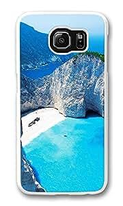 VUTTOO Rugged Samsung Galaxy S6 Edge Case, Navagio Shipwreck Beach Smugglers Cove Zakynthos Greece PC Hard Case for Samsung Galaxy S6 Edge Transparent