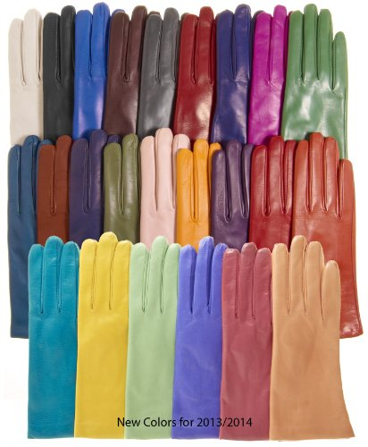 Fratelli Orsini Everyday Women's Italian Cashmere Lined Leather Gloves Size 7 1/2 Color ()