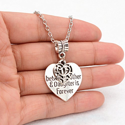 Tinksky Heart Charm Necklace Mom Daughter Jewelry Best Mothe