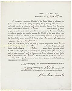 President Abraham Lincoln - Signed Document - September 5, 1863