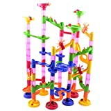 Marble Race Run DIY Construction Kids Toy Game Building Block Tower 105pcs