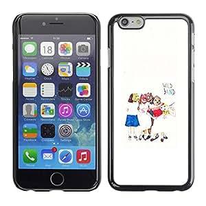 PC/Aluminum Funda Carcasa protectora para Apple Iphone 6 Plus 5.5 Kids Art White Minimalist / JUSTGO PHONE PROTECTOR