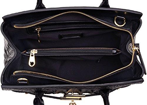 8247ff898c7d PIJUSHI Women s Handbags Crocodile Top Handle Satchel Bags Designer Padlock  Handbags For Women P10103