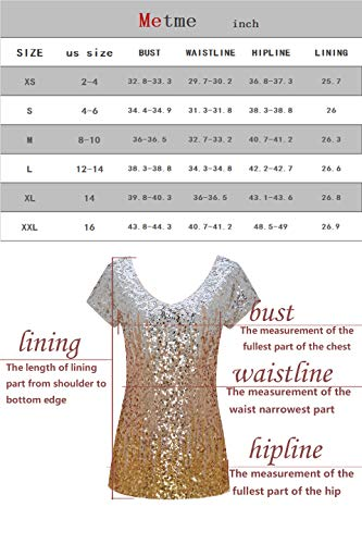 44343e6eca624f Metme Women's Shimmer Loose Cap Sleeve Tank Top Gradient Sequin Embellished  Vest Glitter Party Club Tops