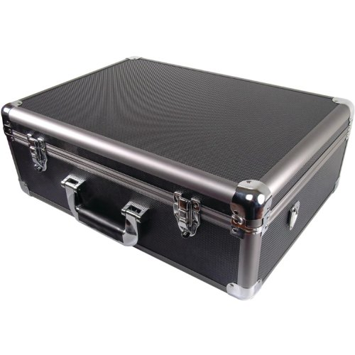 Wheeled Equipment Case (Ape Case, Aluminum Hard Case, Carrying Case, Large XL, Foam inserts, Wheels included, TSA friendly lock loops, 8 x 23.5 x 15 inches (ACHC5700))