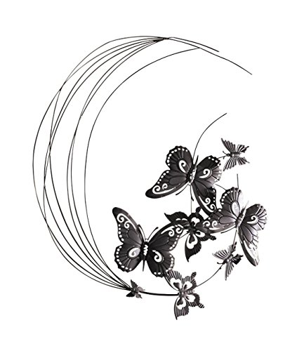 Metal Wall Decor Flying Butterflies Sculpture Product SKU: HD229088