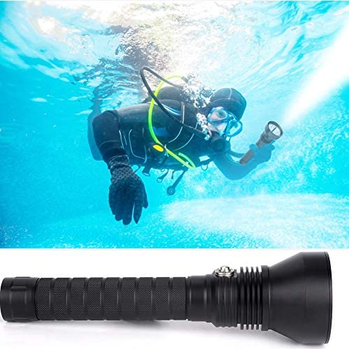 Ichiias Diving Flashlight, Strong Light Waterproof Rating Long-Range Flashlight, Swimming Pool Aquarium for Outdoor Camping