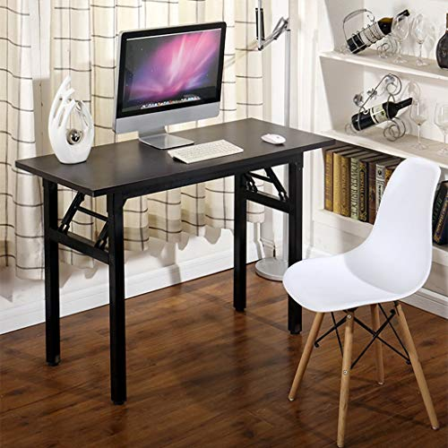 (Fulijie Home Office Desk Folding Computer Desk Modern Study Writing Table PC Laptop Table 47.3 x 23.7 x 29.6 inch(LWH) (Black))
