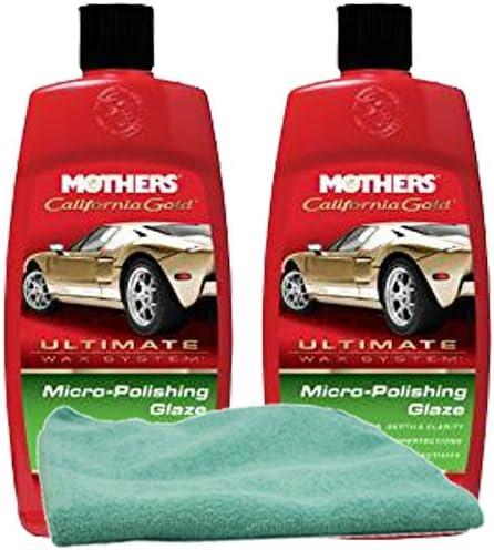 Mothers California Gold Micro Polishing Glaze 16 Oz Bundle With Microfiber Cloth 3 Items Automotive Amazon Com
