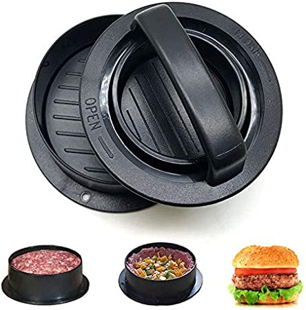 Black Cuisinart CSBP-100 3-in-1 Stuffed Burger Press