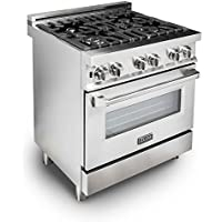 ZLINE 30 in. Professional 4.0 cu. ft. 4 Gas Burner/Electric Oven Range in Stainless Steel (RA-30)