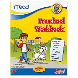 Mead Preschool Workbook, 10-7/8 x 8-3/8-Inches, 320 Pages (48054)