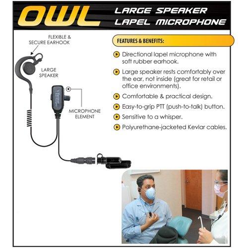 Tactical Ear Gadgets OWL Quick Release Earpiece for Vertex VX-600 VX-800 VX-900 by Tactical Ear Gadgets