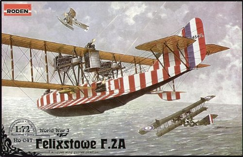 Roden Felixstowe F.2A Late British Twin-Engine Flying Boat Airplane Model Kit - Flying Boat Kit