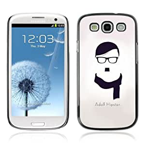 YOYOSHOP [Adolf Hipster Funny Message] Samsung Galaxy S3 Case