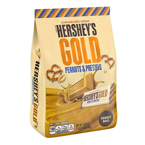 Hershey's Gold Peanuts and Pretzels Family Bag