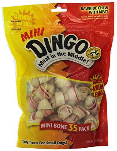 Dingo Rawhide Mini Bones, 35-Count Value Bag image