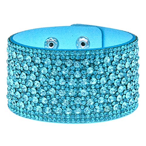 - PHLPXL Rhinestones Wide Bracelets&Bangles Women Girls Handmade Men Charms Bracelet Wristband Jewelry Gift
