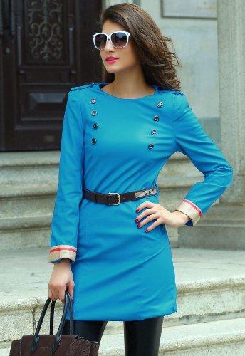 Pinkyee PKY1509152136 - Vestido para mujer Blau - 140765-Blue