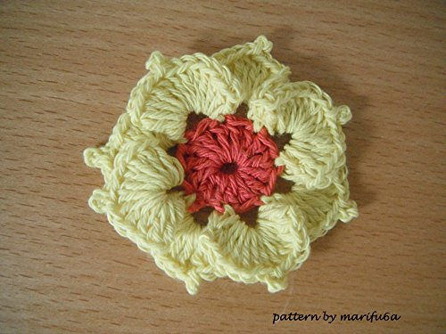 PDF Crochet Pattern - 3D flower Applique Ornament nr 08: PDF Crochet Pattern - 3D flower Applique Motif nr 08