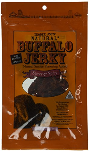 Trader Joe's Natural Buffalo Jerky Sweet & Spicy Flavor 3.5 Oz.