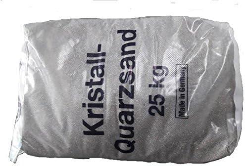 Quarzsand 7 K/örnung 0,6-1,2mm 25 Kg Sack