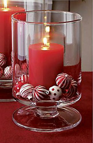 Garden Mile Large Christmas Pedestal Candle Holder Hurricane Candle
