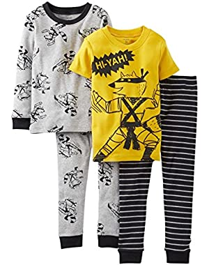 Carter's Baby-boys 4 Piece Snug Fit Cotton Pajamas (12 Months-24 Months)