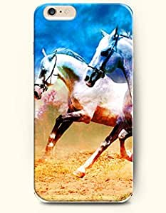 SevenArc Apple iPhone 6 Case 4.7 Inches - Two White Horse Running Side by Side