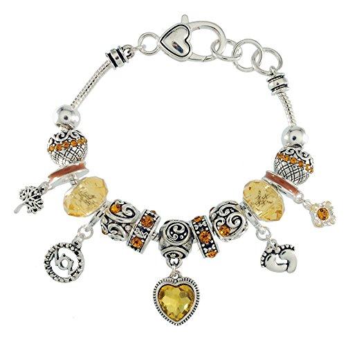 Landau Ambrosia November Birthstone Charm Bracelet by Landau